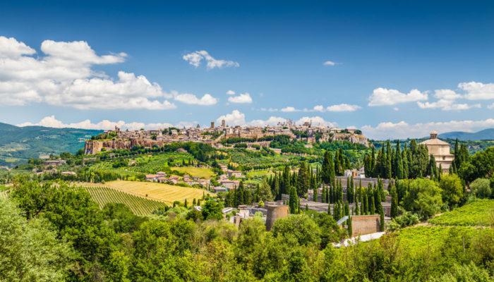 Castelli medievali vicino a Orvieto